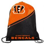 Cincinnati Bengals Drawstring Backpack, Orange & Black